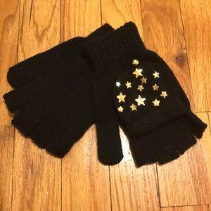 Francesca's black gloves